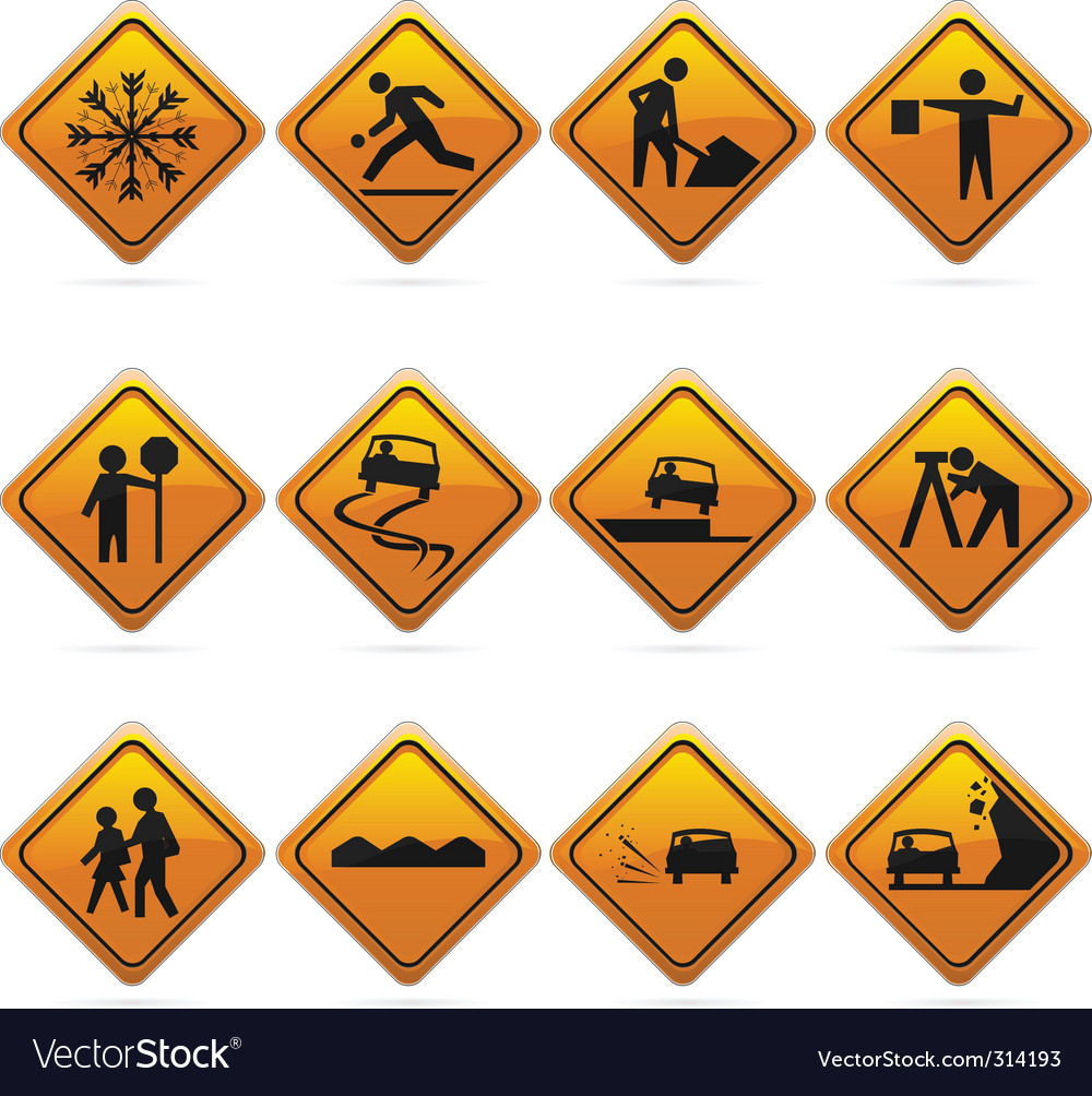 Diamond road signs vector image
