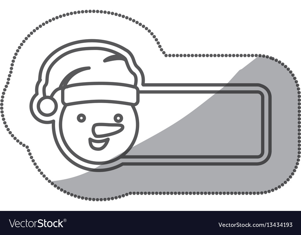 Figure sticker poster snowman icon