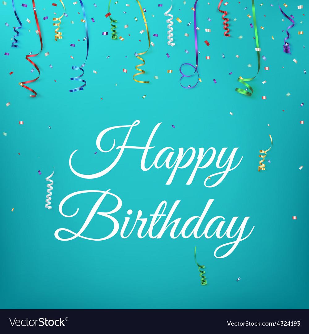 happy birthday celebration background template vector image