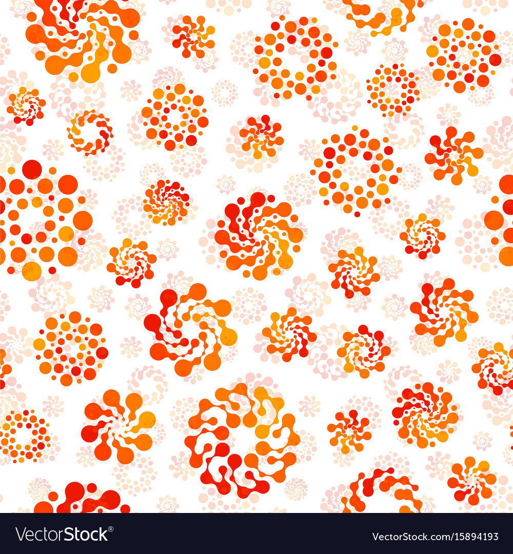 Orange color abstract seamless circles design