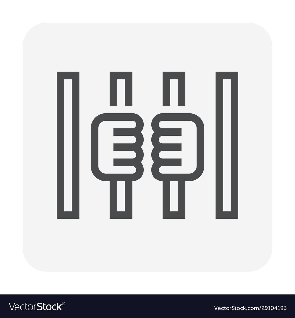 Prison prisoner icon