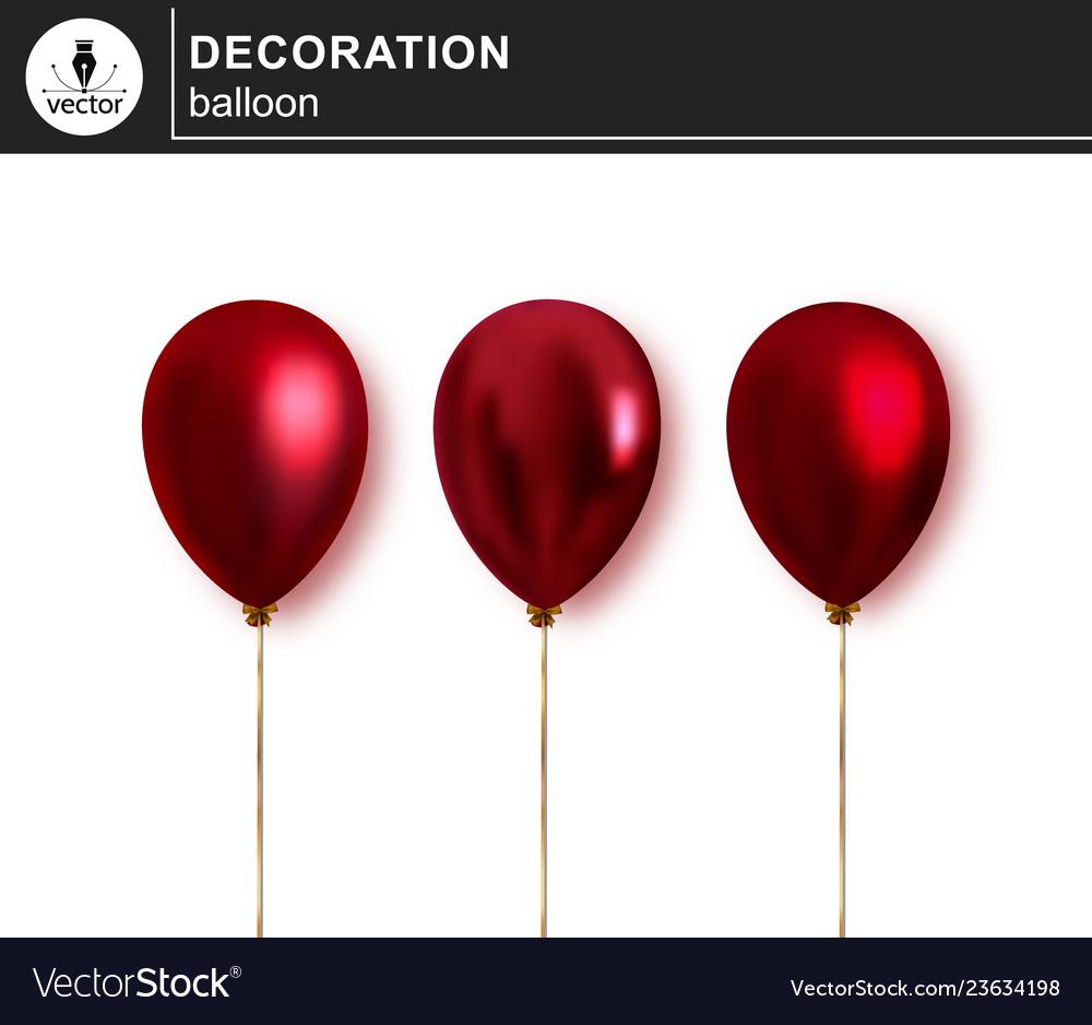 Balloon set of decorative festive balloon
