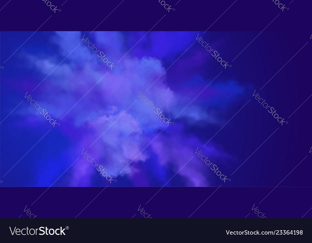 Explosion of blue powder