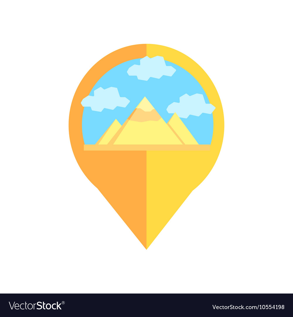 Pyramids In Egypt Map.On Line Map Marker With Pyramids Of Egypt Vector Image