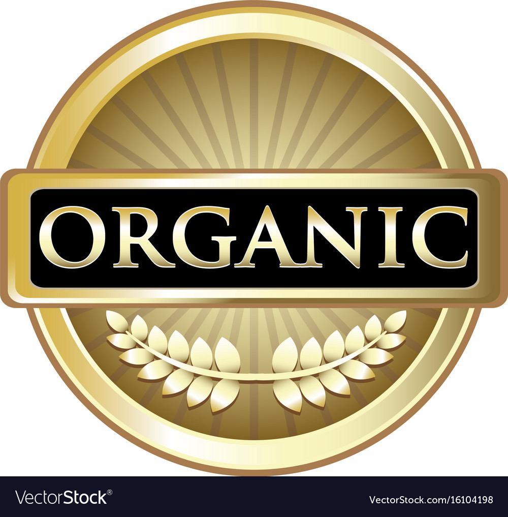 Orgnic gold label