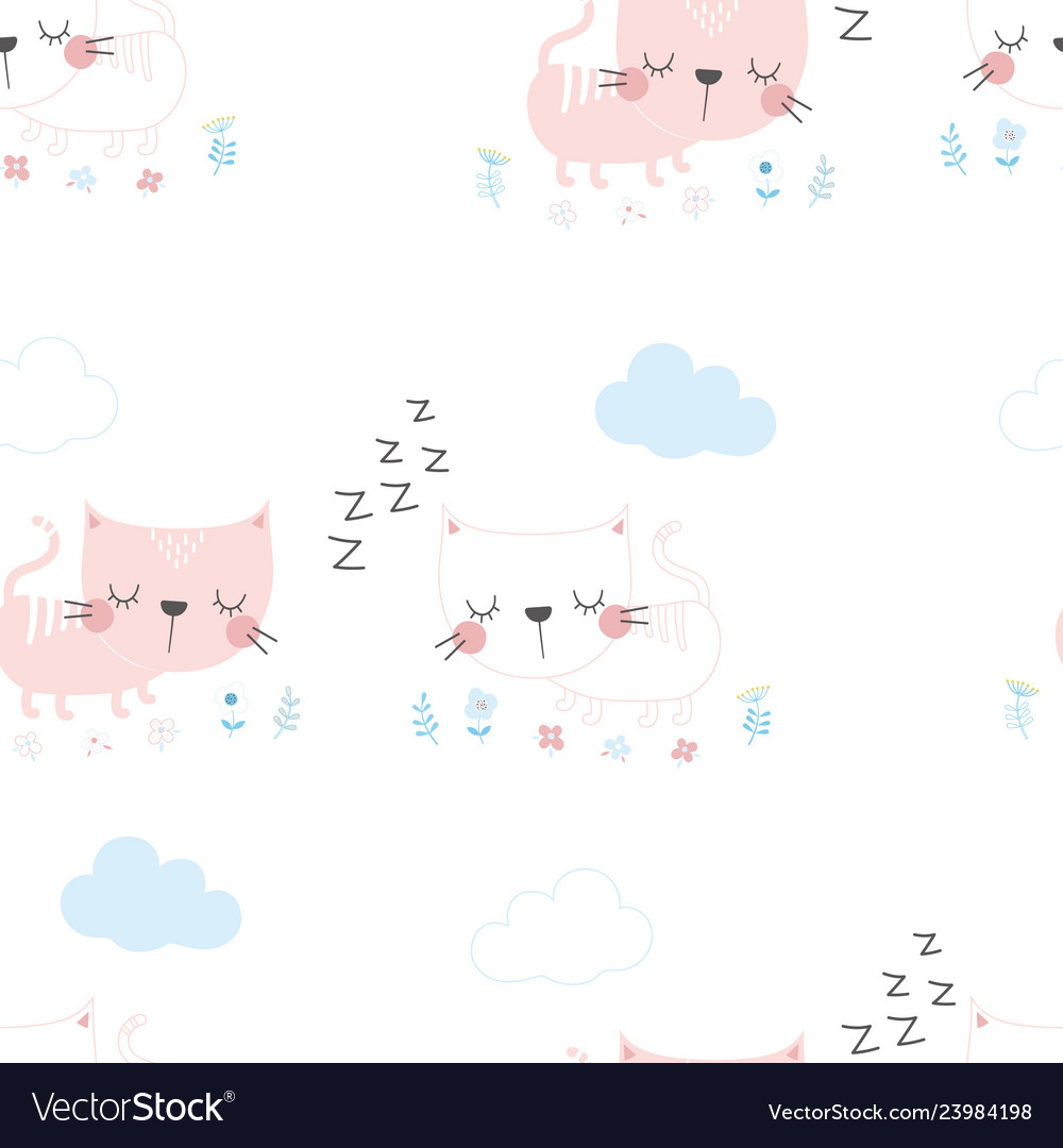 Scandinavian pattern with cat