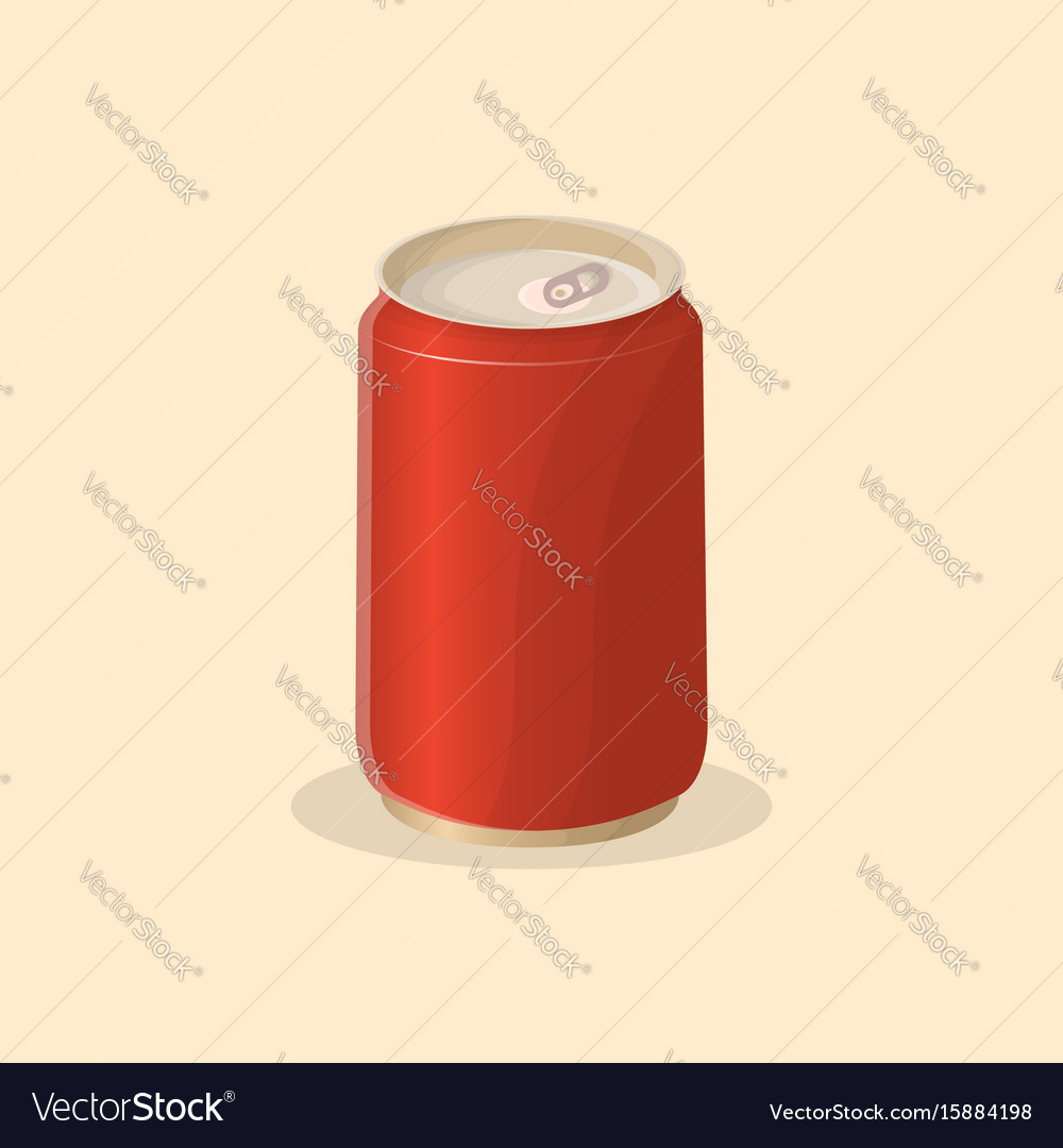 Soda in a tin can vector image