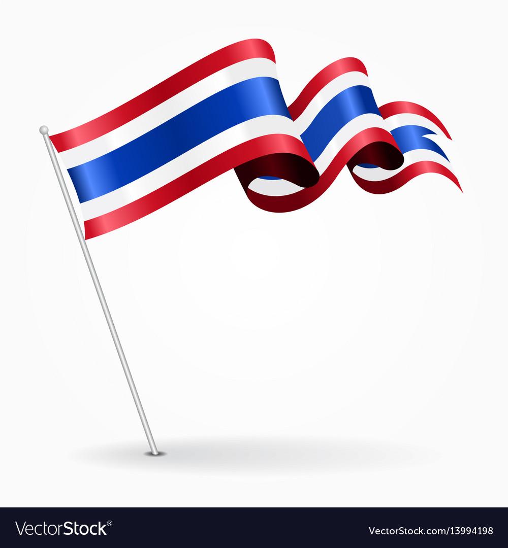 thai pin wavy flag royalty free vector image vectorstock rh vectorstock com waving flag vector file waving flag vector free download