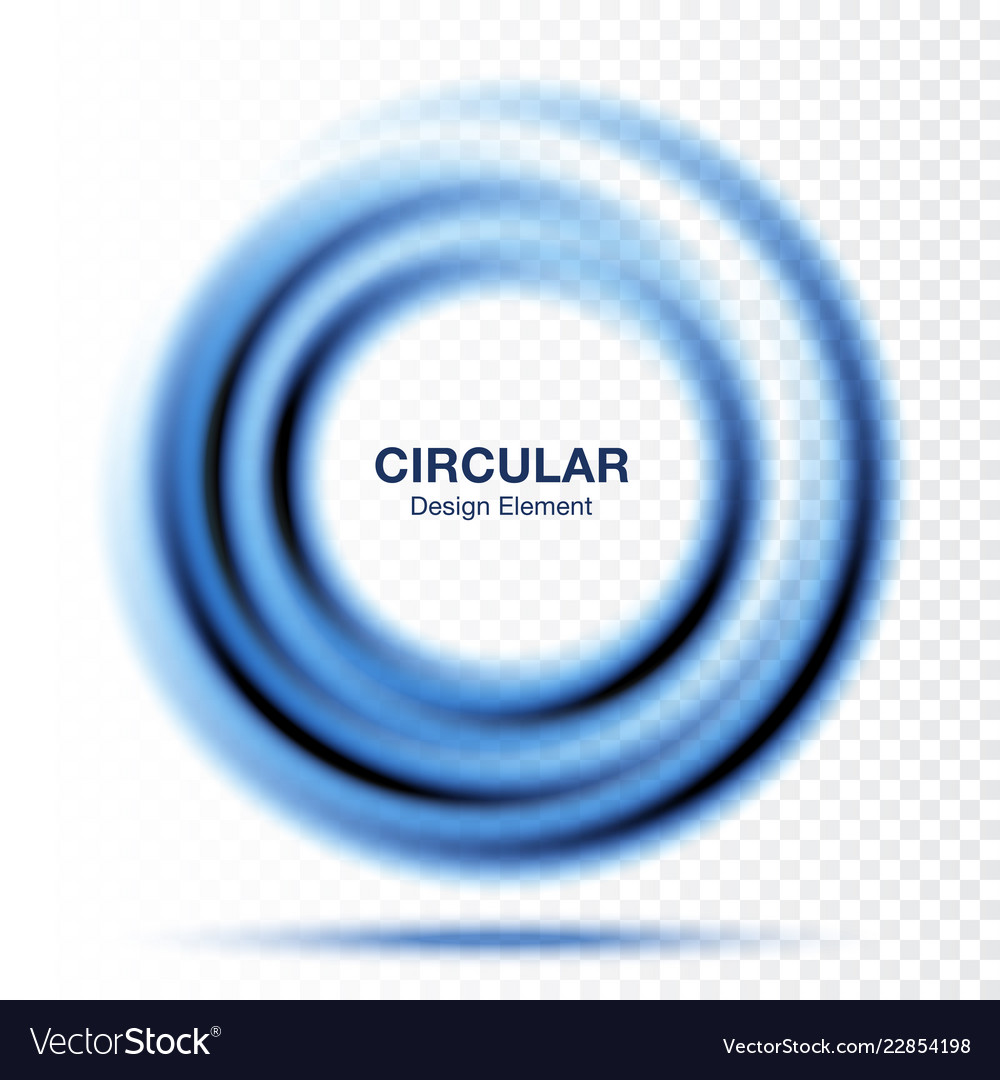Vortex circular frame swirl blue circle vector
