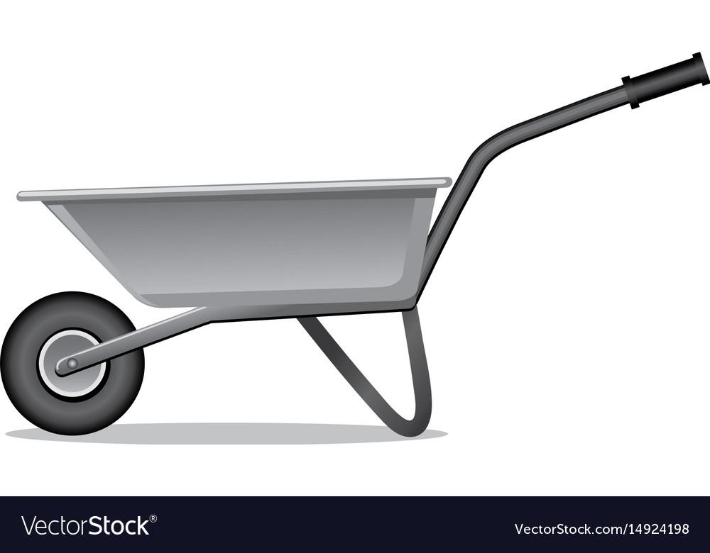 Wheelbarrow For Gardening Vector Image