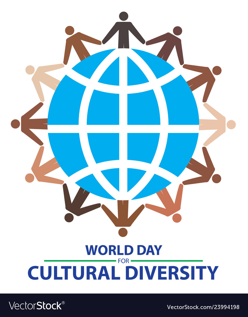 World day for cultural diversity with colorful