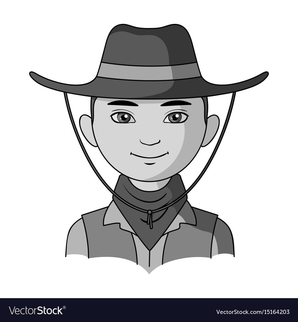 Amnricanianhuman race single icon in monochrome