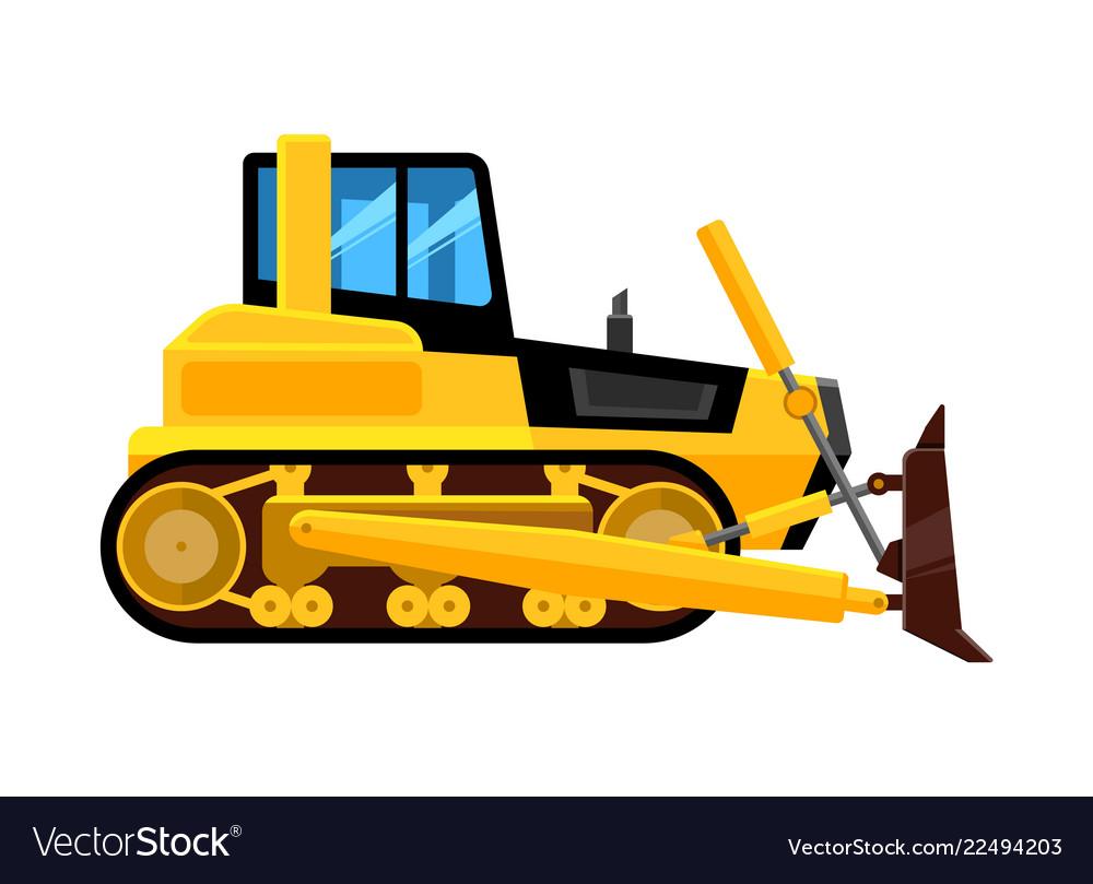 Bulldozer isolated quarry hydraulic machine for