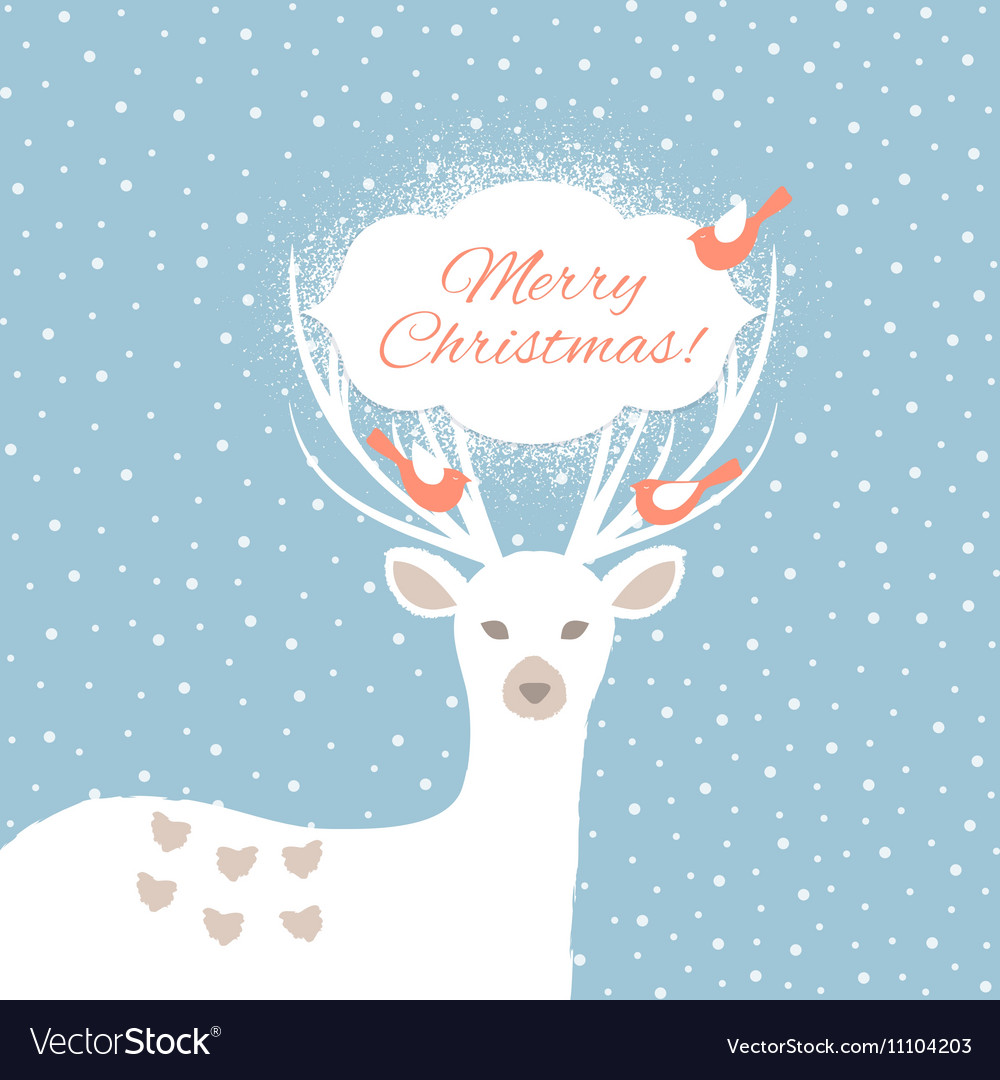 Christmas background with deer