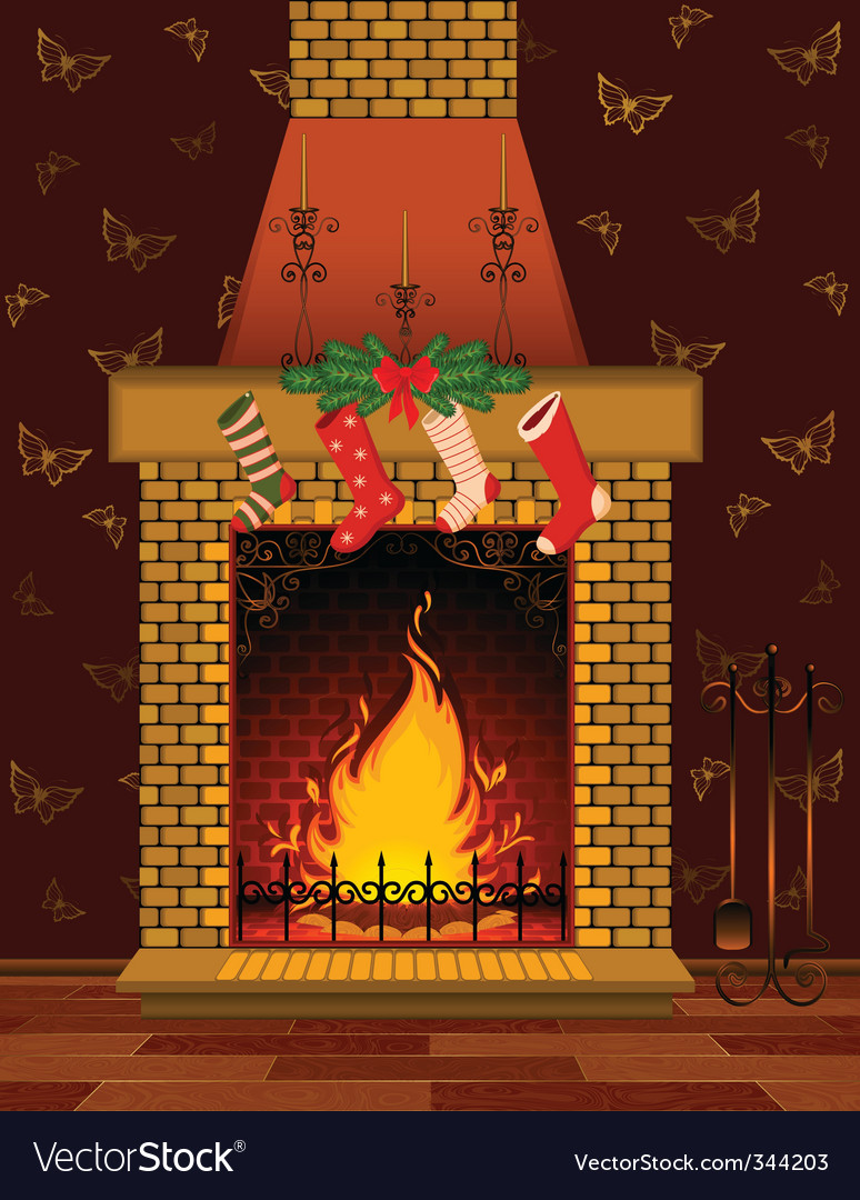 Christmas Fire Place Images.Christmas Fireplace Scene