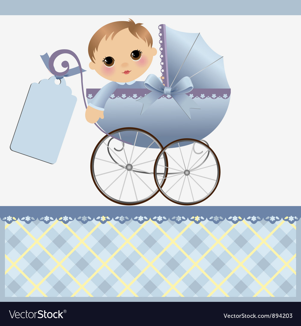Cute Template For Baby Card