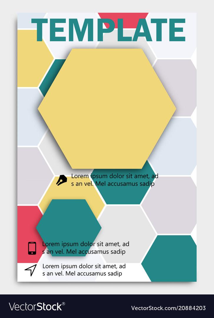 Geometric shape diamond abstract template vector image