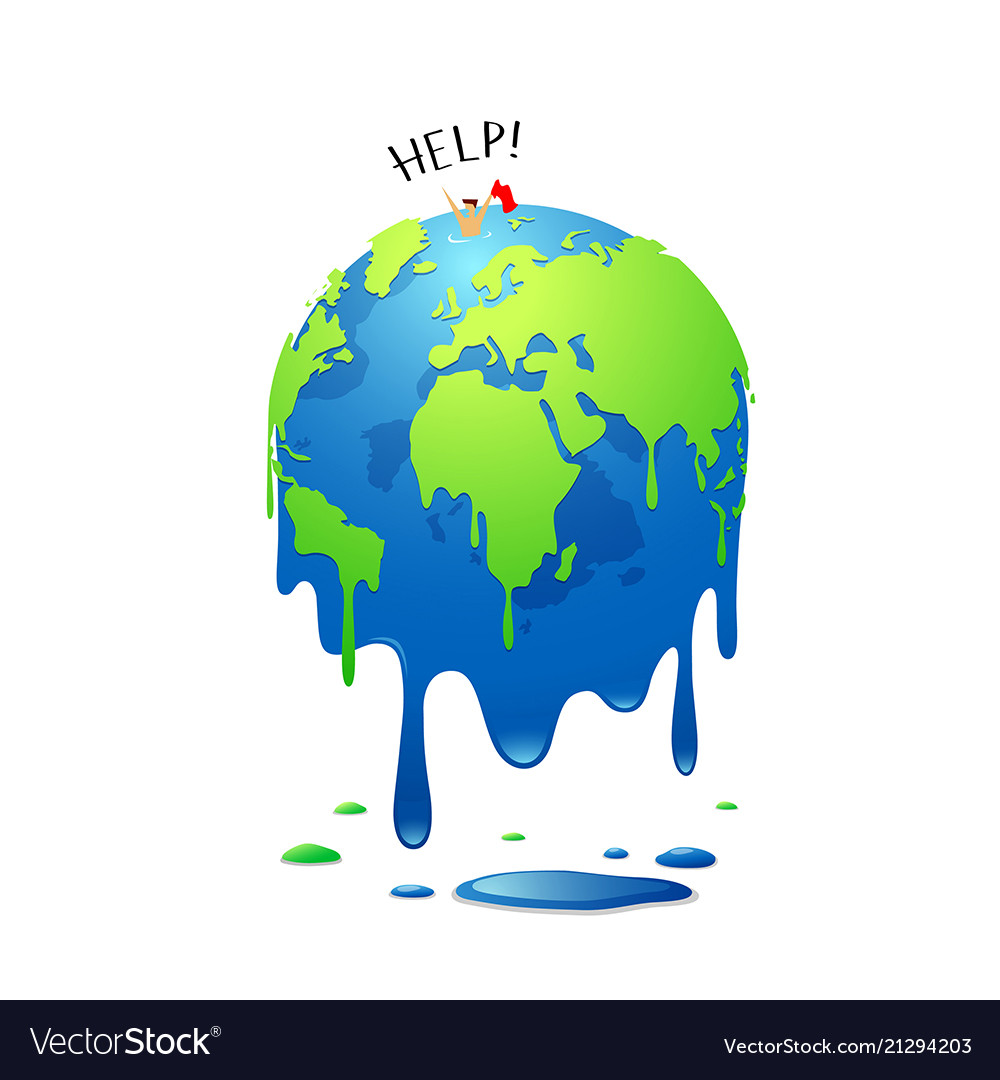 Global melting concept global warming