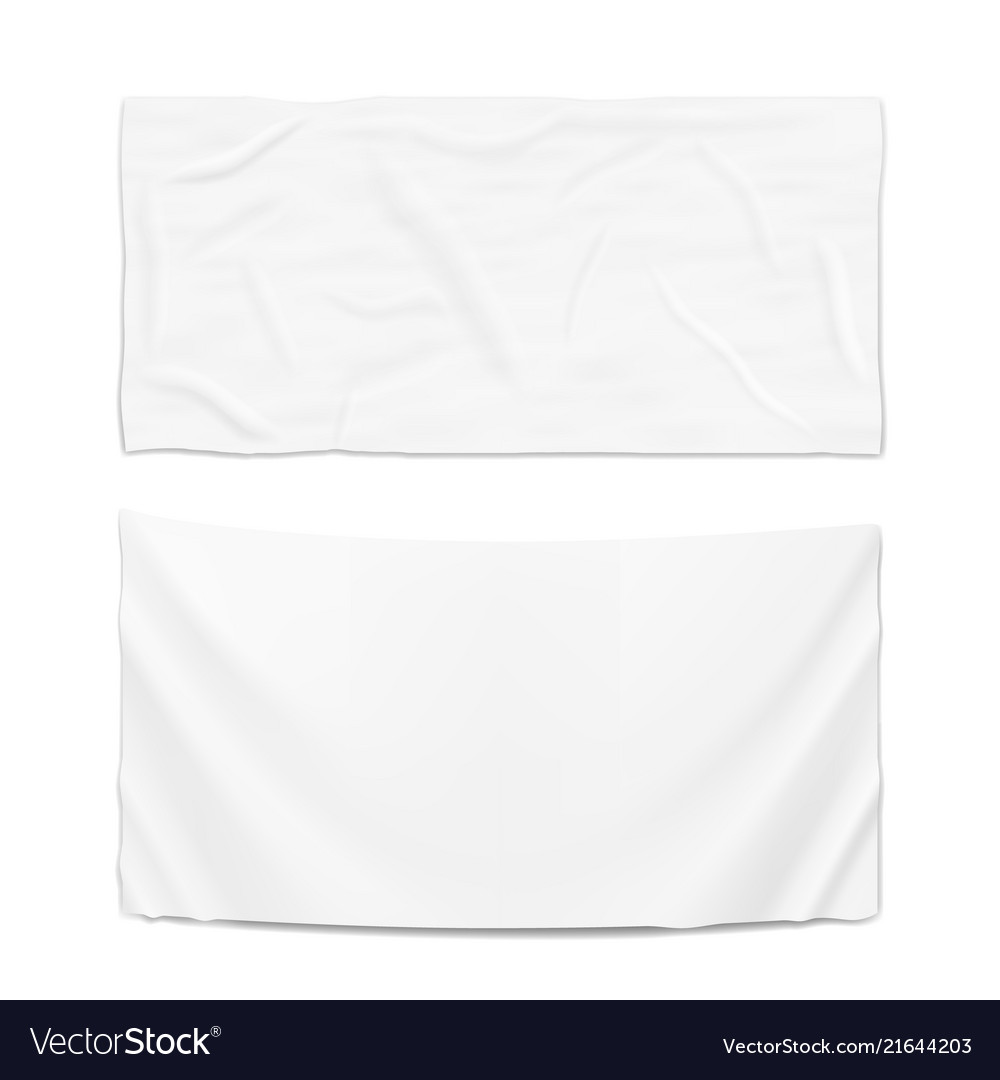 Hanging clear white flag template