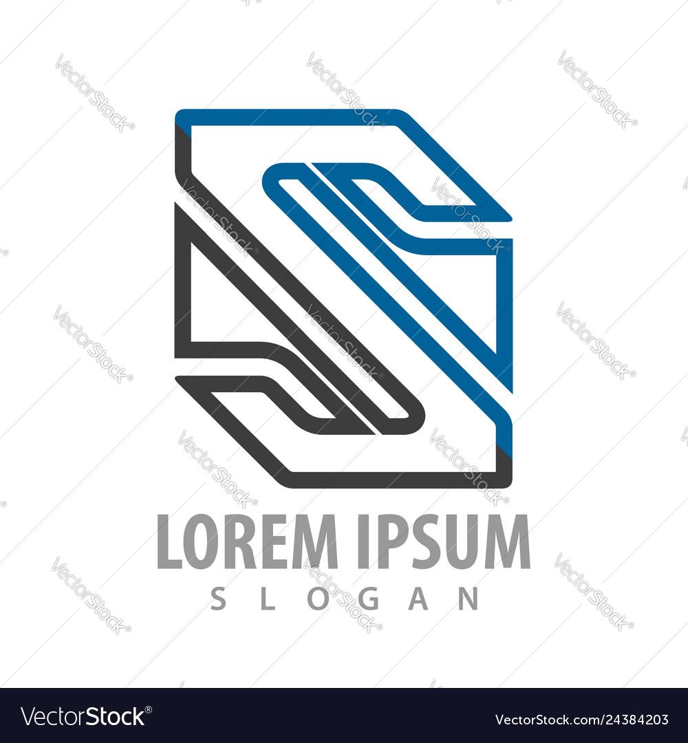 Initial letter s concept design symbol graphic
