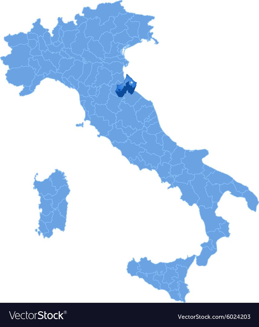 Map Of Italy Rimini Royalty Free Vector Image Vectorstock