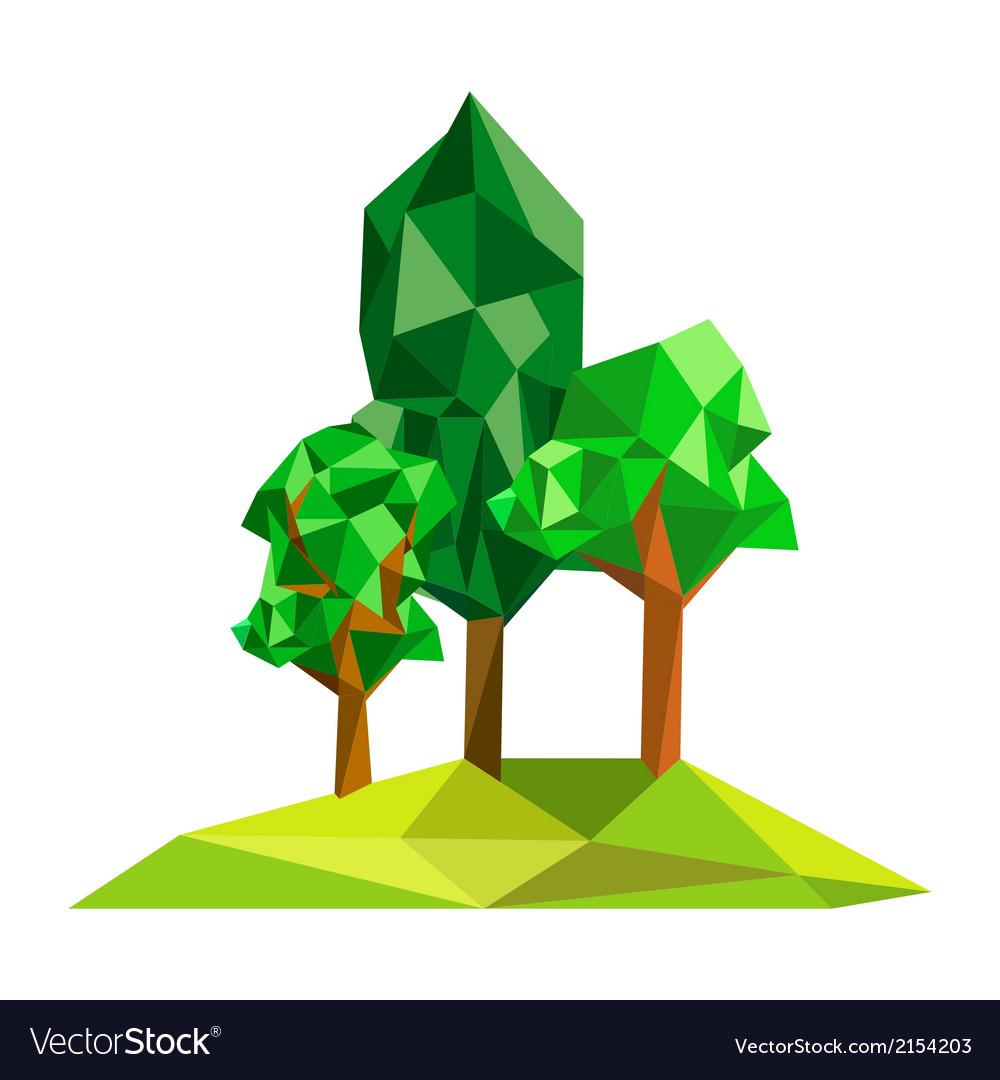 Origami tree on polygon field