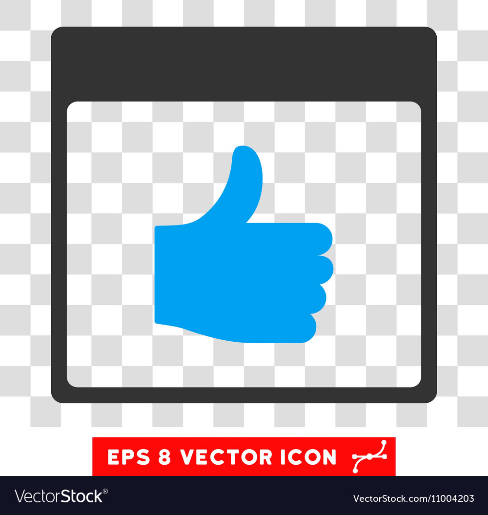 Thumb Up Calendar Page Eps Icon vector image