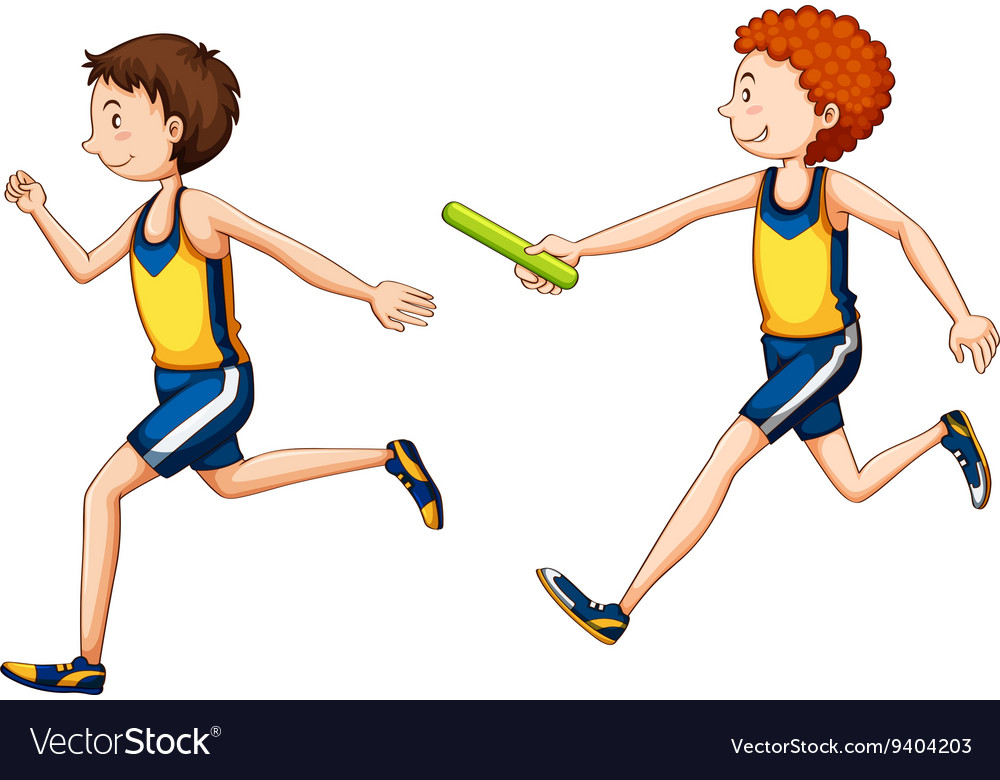 two running doing relay race royalty free vector image clipart boy and girl swinging clipart boy and girl holding earth