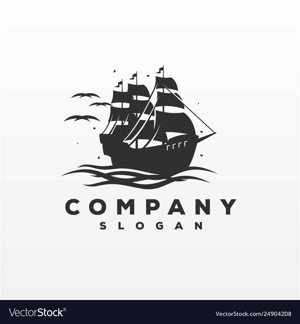 Awesome ship logo design