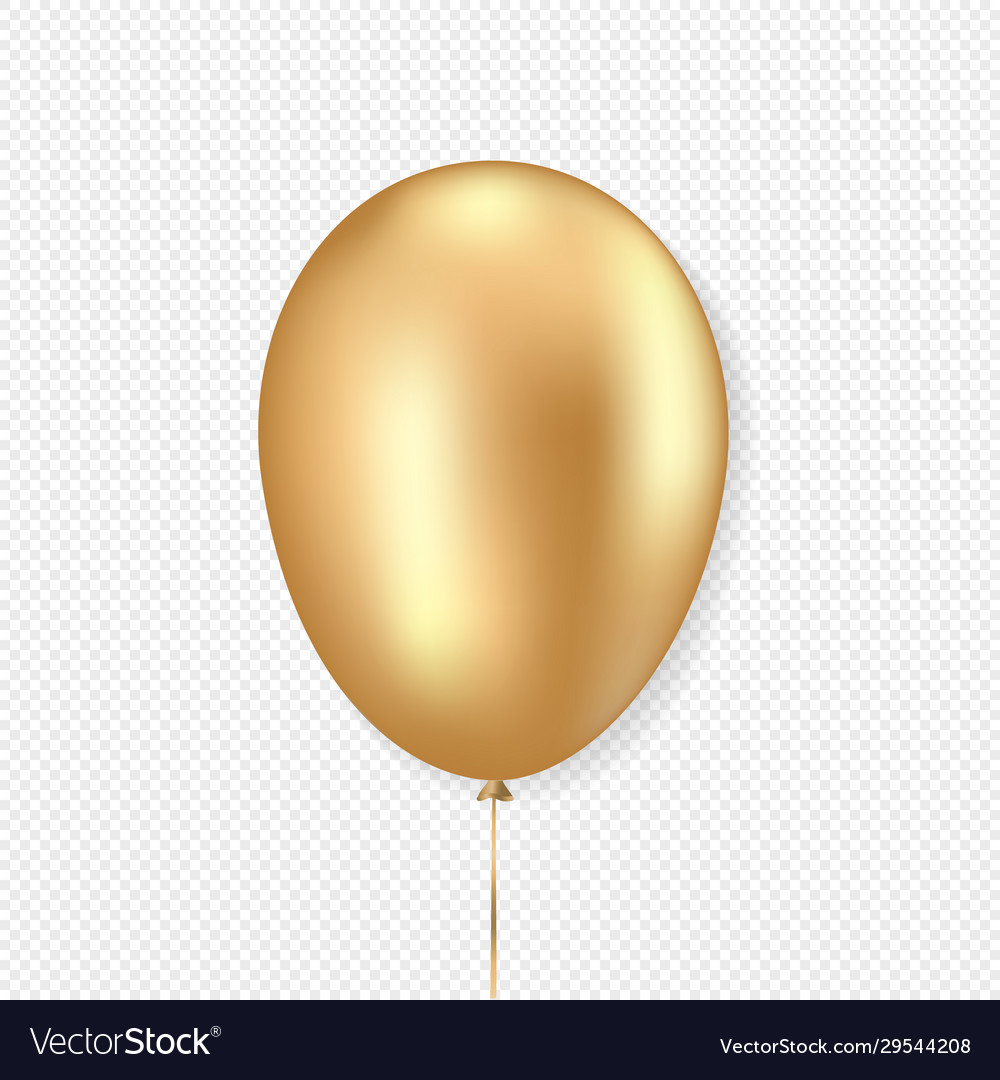 Golden balloon realistic style
