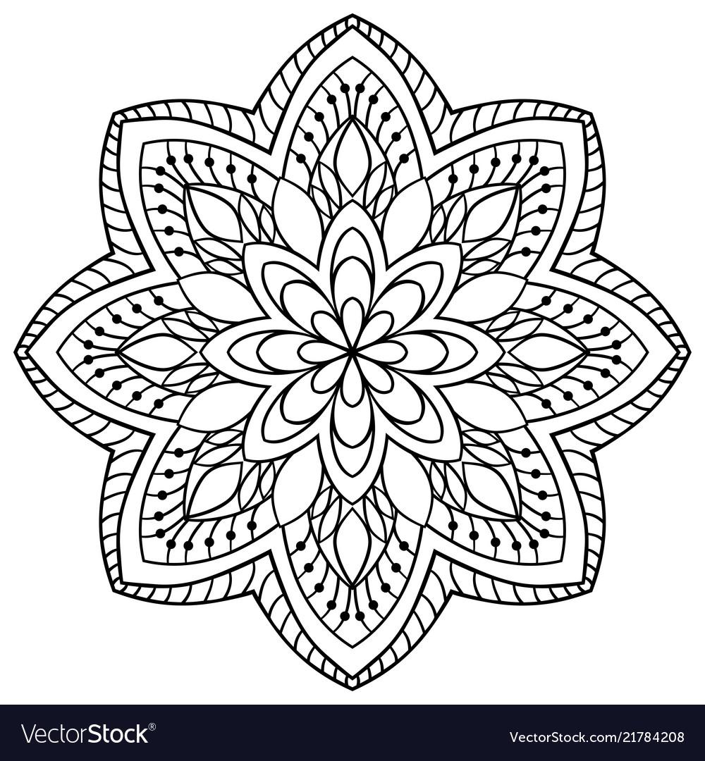 Ornamental simple mandala