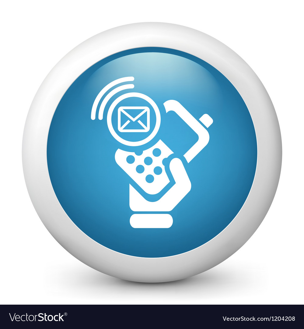Sms Glossy Icon vector image