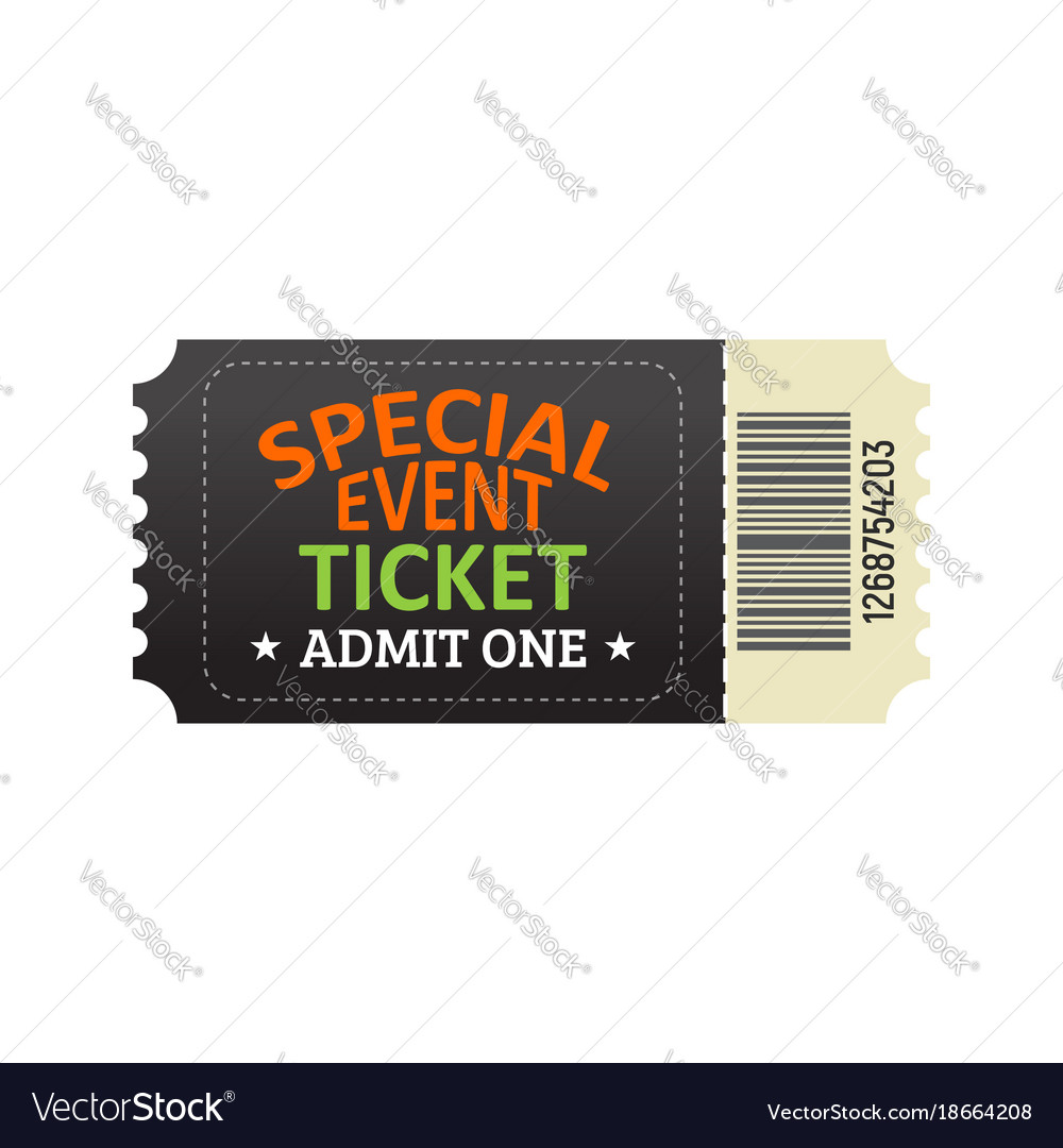 Ticket for entrance to the special event