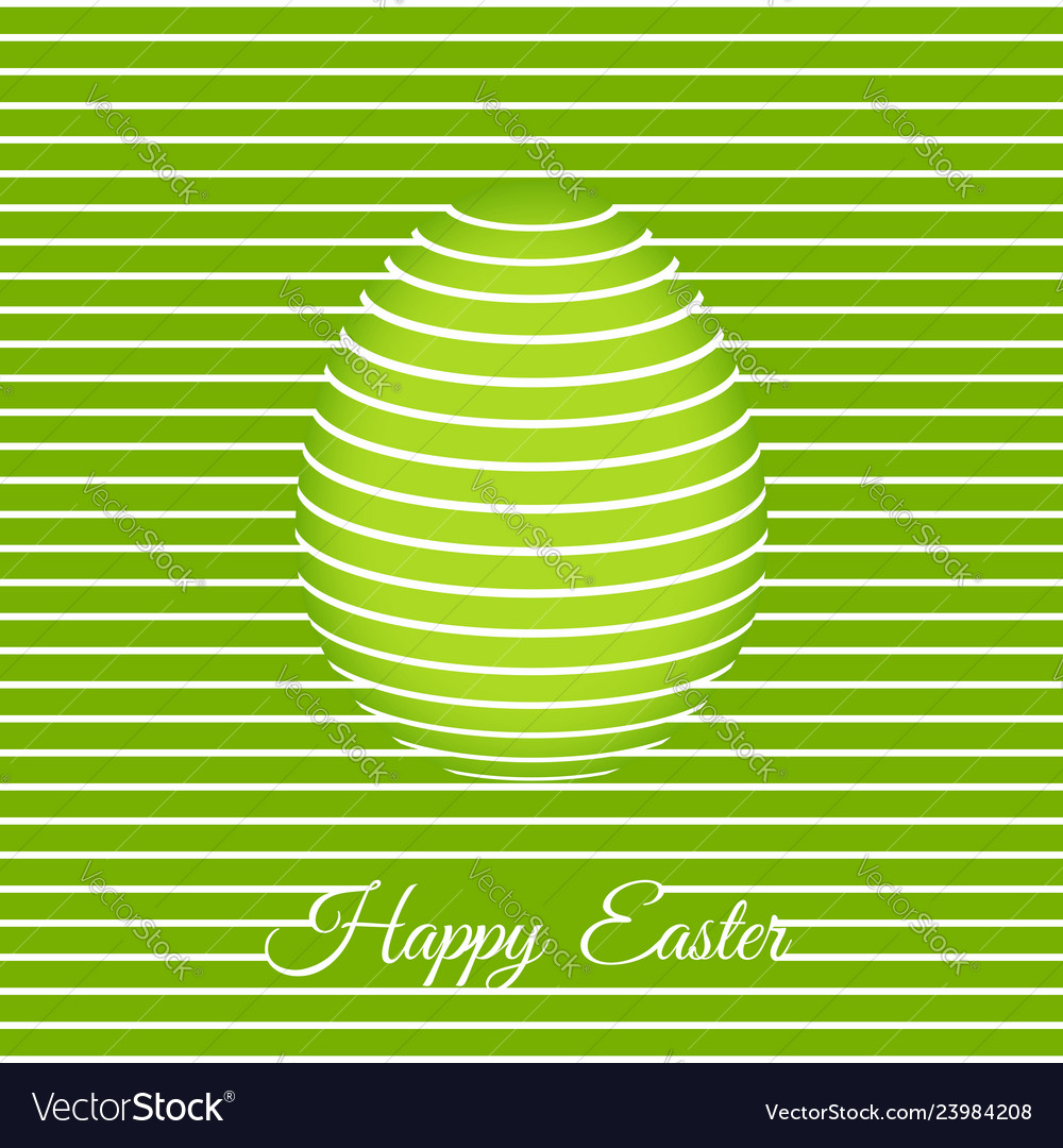 Trendy 3d easter greeting card template with egg