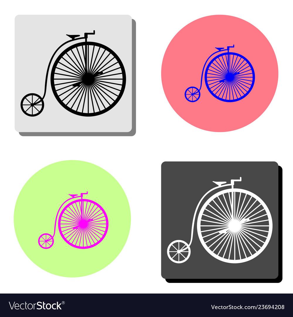 Vintage bicycle flat icon