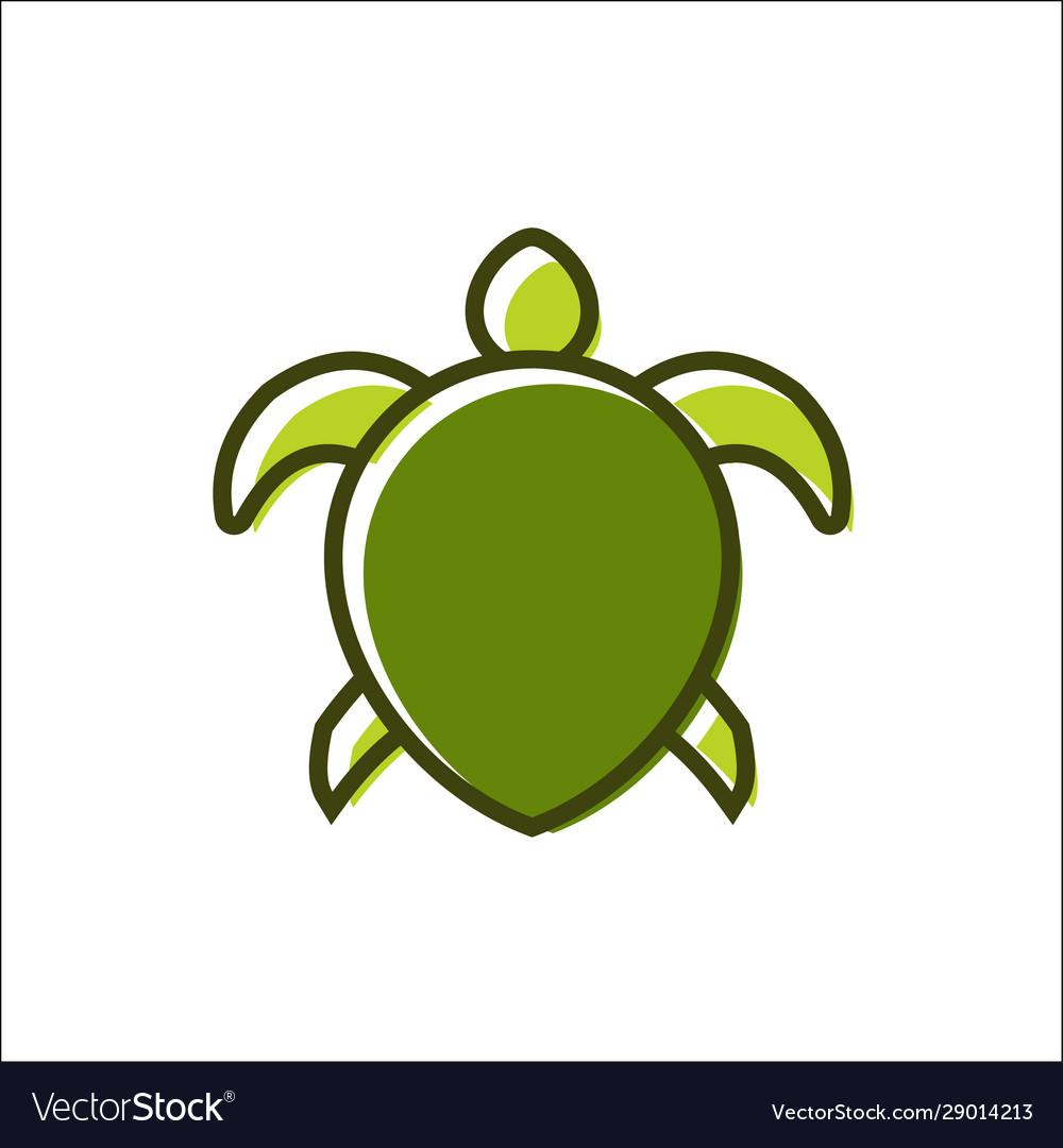 A turtle design logo animals