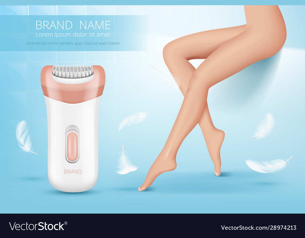 Laser Depilation Woman Leg Hair Removal Procedure Vector Image