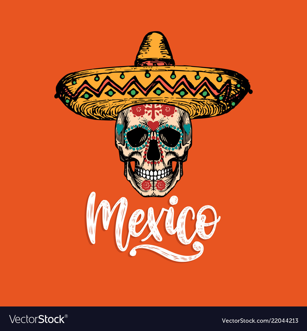 Mexico hand lettering calligraphy