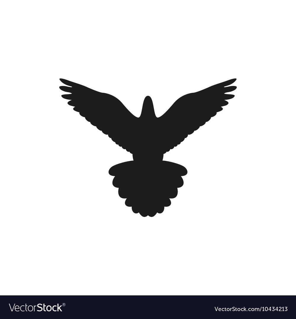 Simple black bird isolated style logo