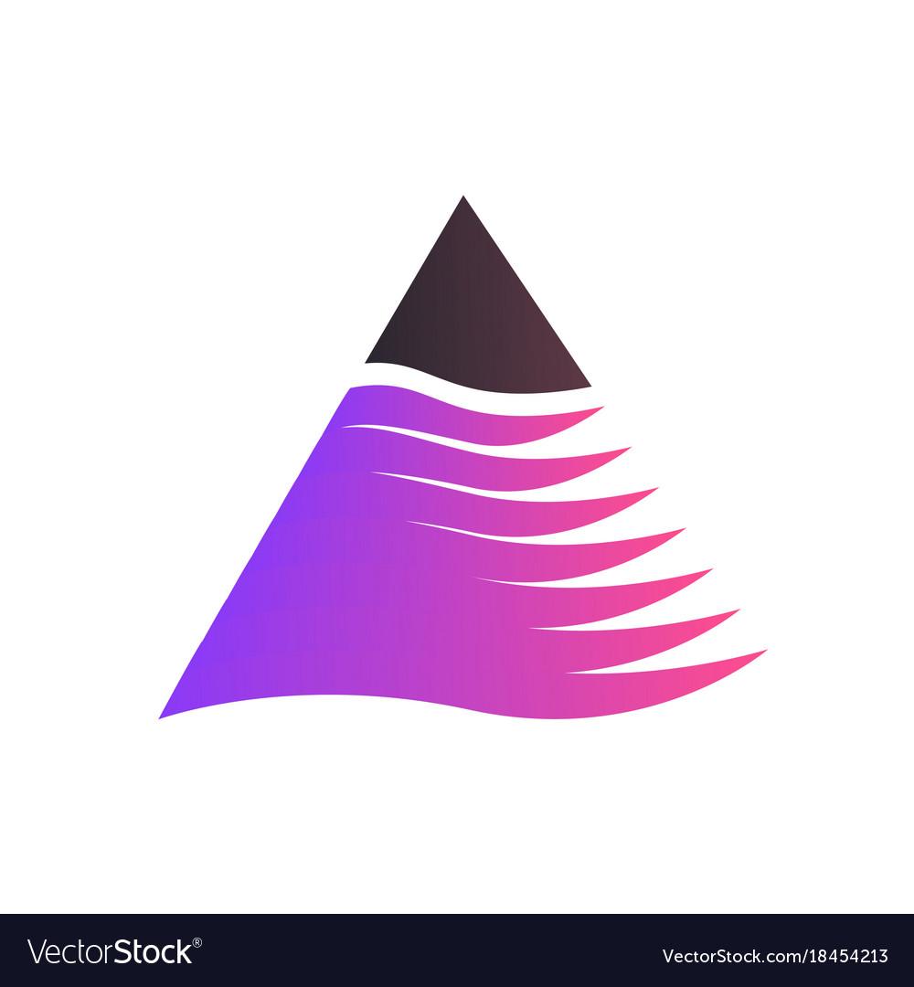 Triangle logo isolated on white background