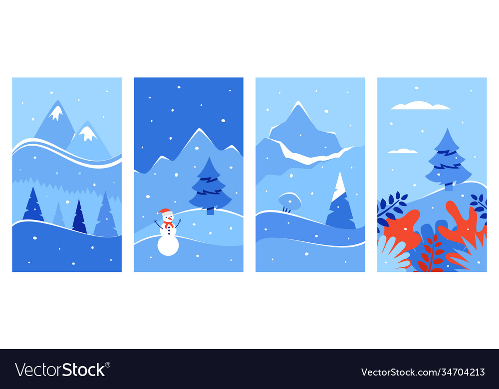 Winter background winter landscape for vector