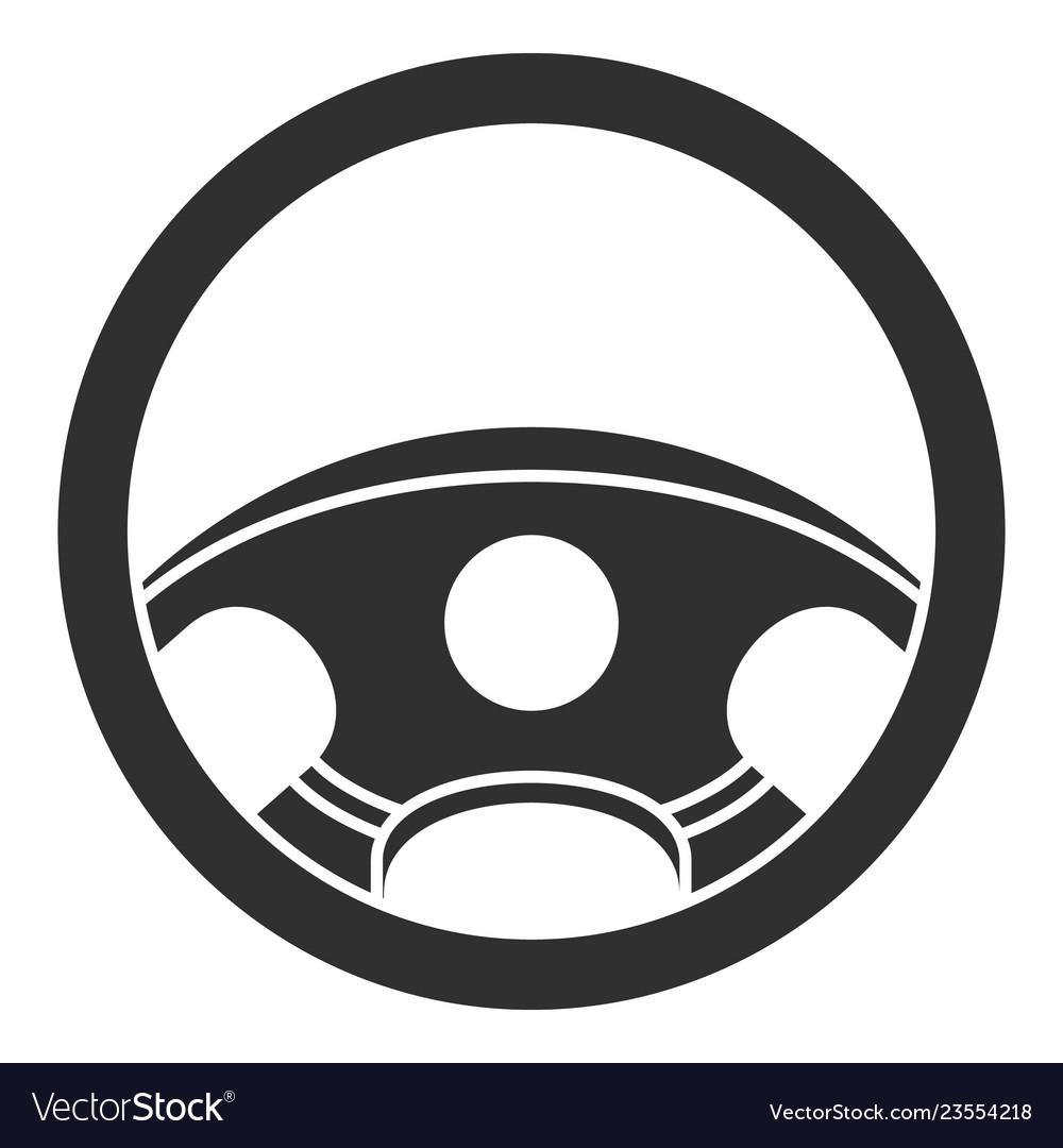 car steering wheel icon simple style royalty free vector car steering wheel icon simple style