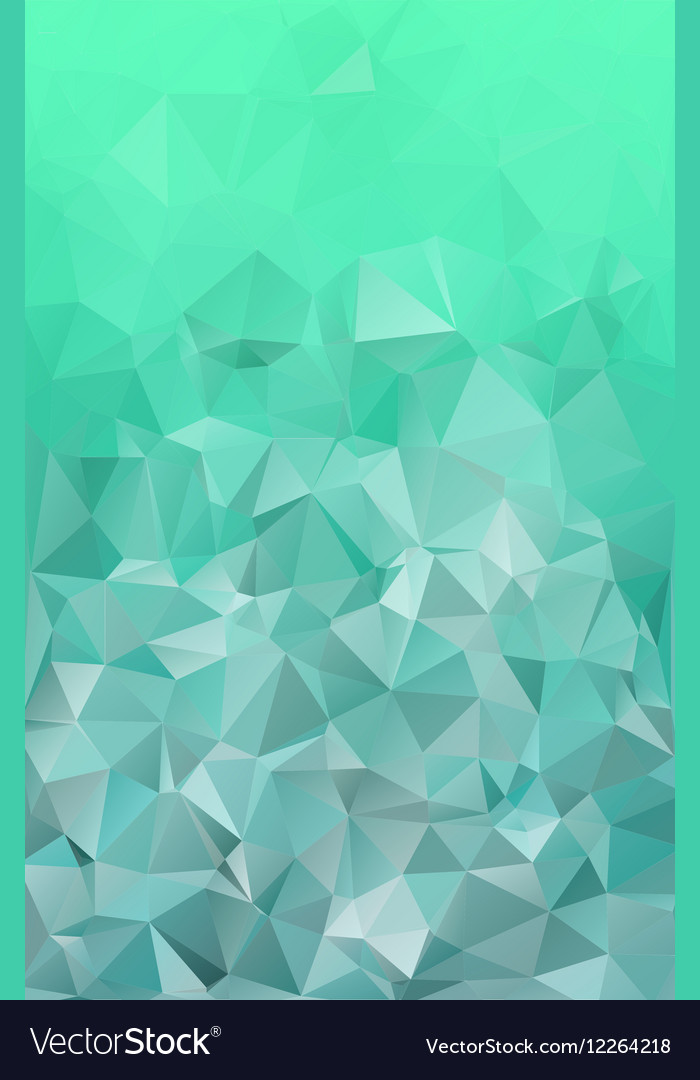 Emerald green abstract polygonal geometric vector image