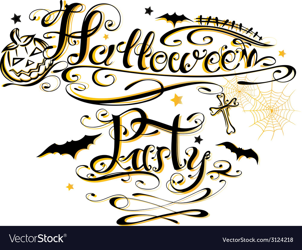 Halloween Party lettering