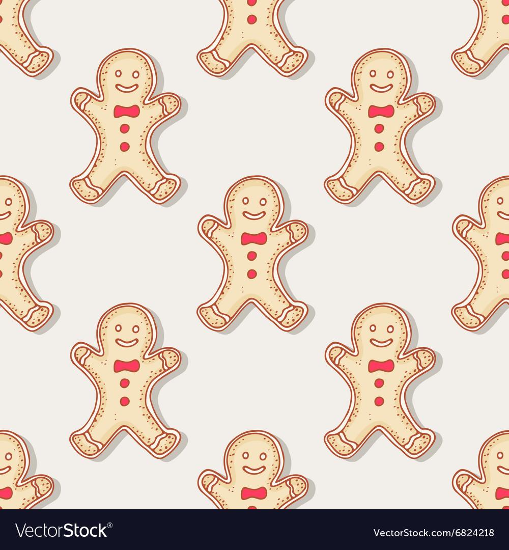 Hand drawn christmas gingerbread man cookies