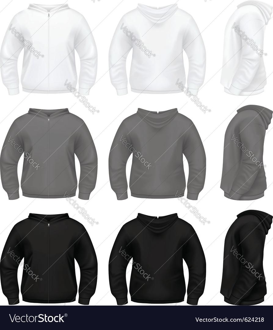 Hooded sweatshirt vector image