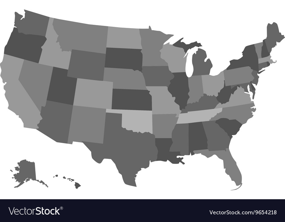 Political USA map
