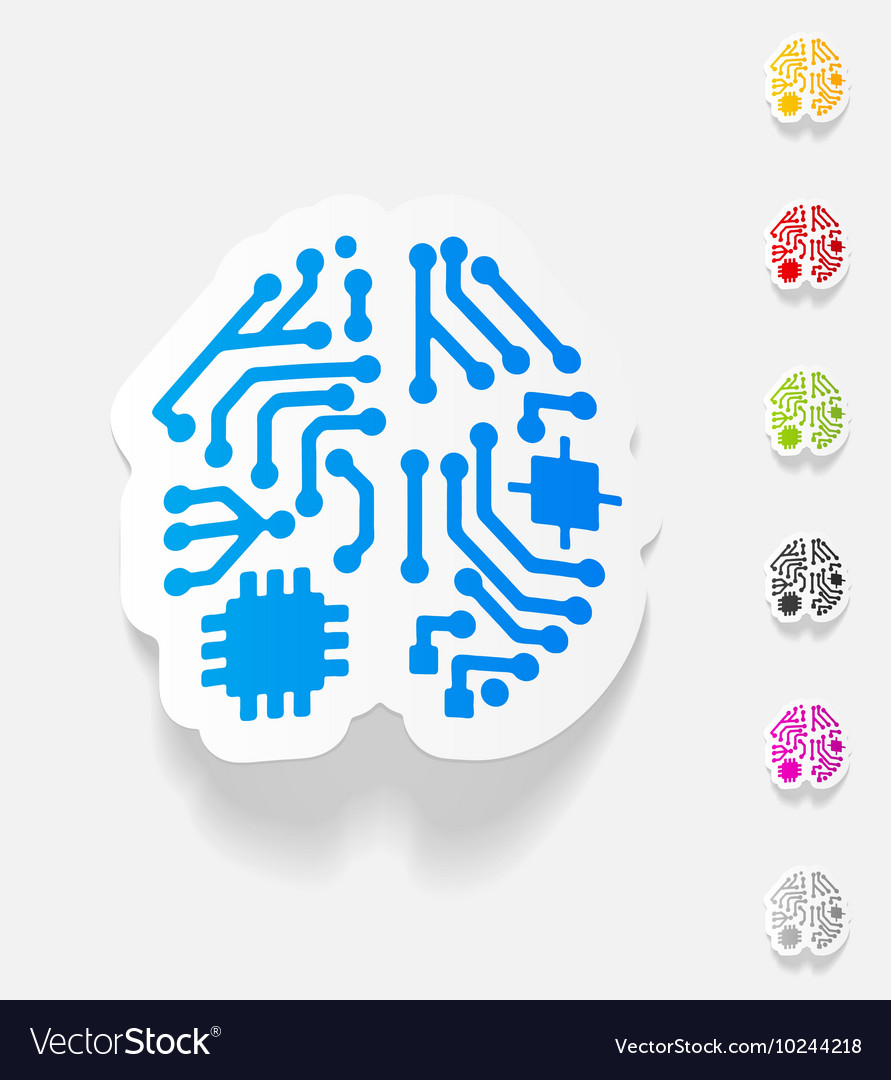 Realistic Design Element Artificial Intelligence Vector Image Wiring Diagram