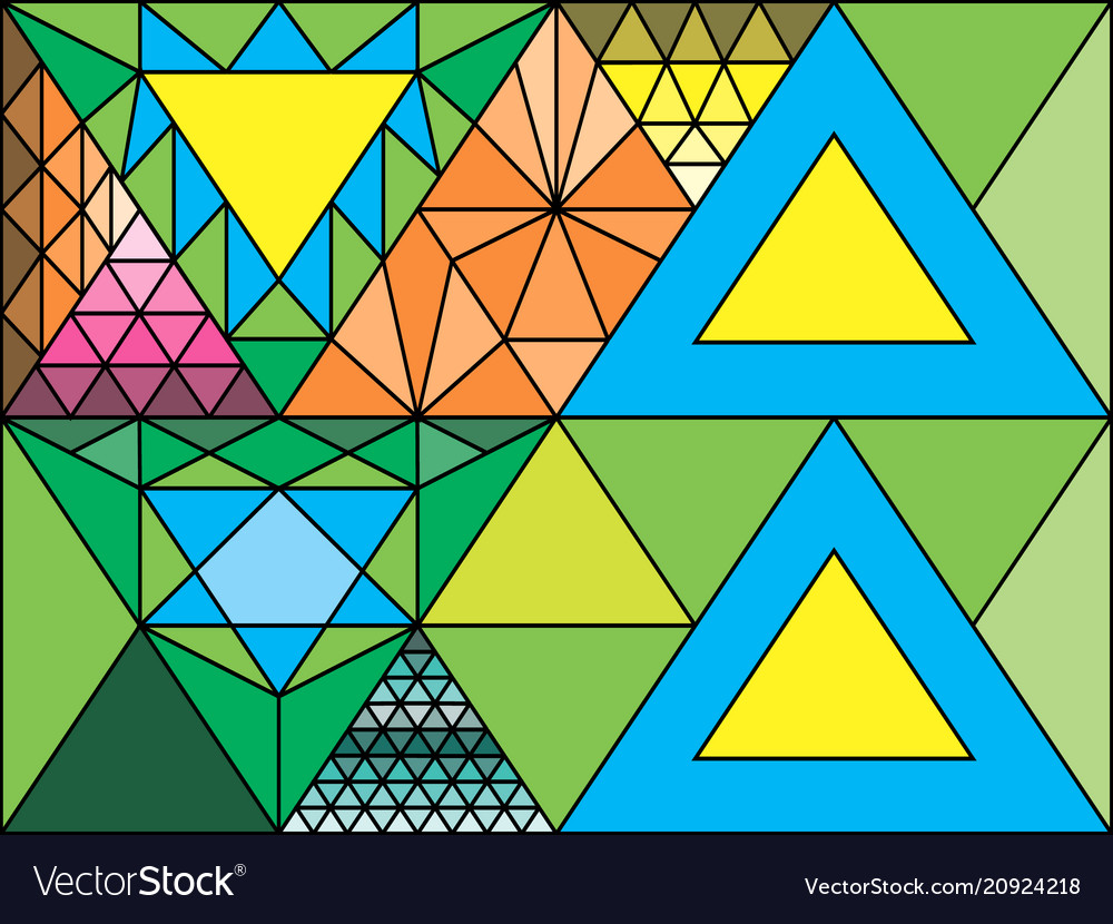 Stained glass window triangulation random