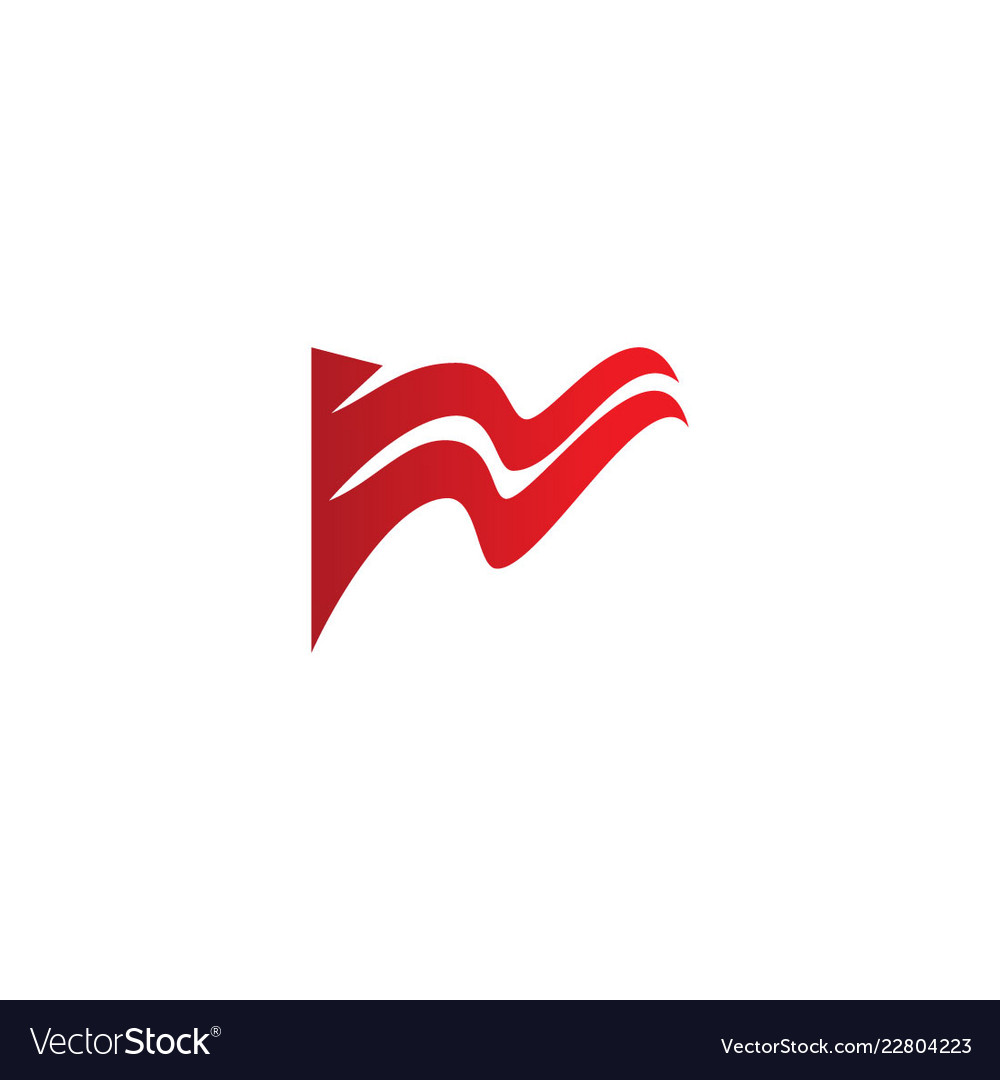 Abstract flag fly design logo